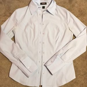 Express stretch woman's button down long sleeve